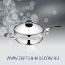 Zepter Сковорода с двумя ручками, с крышкой (URA-технология) 3,8 л, диаметр 28 см, высота 6,5 см