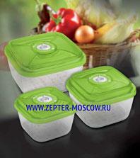 Цептер Стеклянный контейнер квадратный (малый) 15х15х8.5 см; объем 1,1 л
